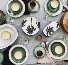 Bold & Basic ceramics | porcelain serving trey palms