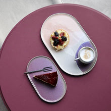 Gallery ceramics | oval side plate | Lilac