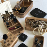 willow wooden accessorie boxes by hkliving filled with chanel make up