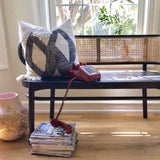 Retro webbing bench - black