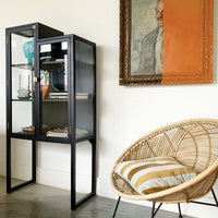 Staircase showcase cabinet | black