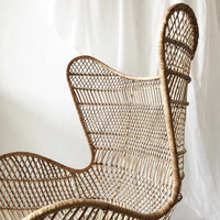 shape details of bohemian style natural rattan egg chair