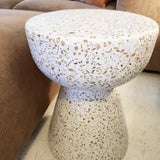 detail of terrazzo side table