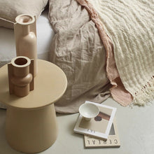 Earthenware side table - natural