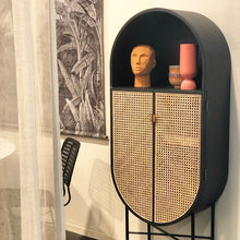 Retro oval cabinet | black