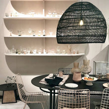 big black basket pendant light