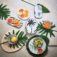 table setting in jungle theme