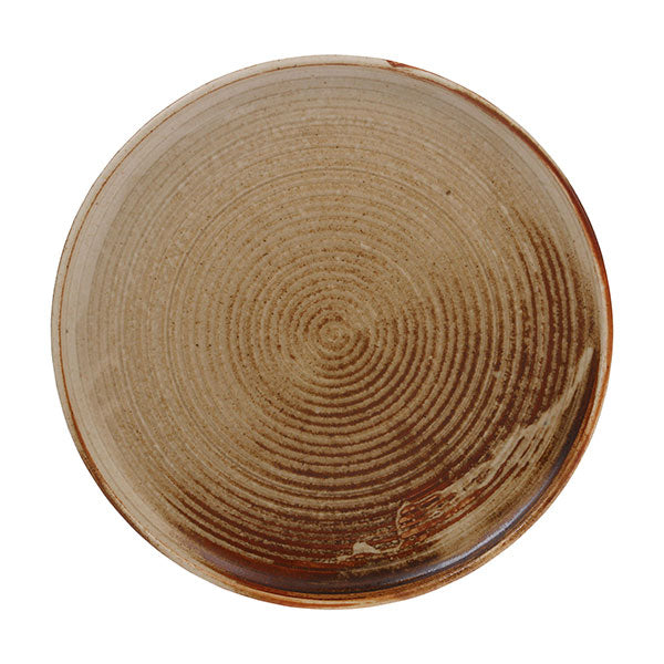 Ceramic Dinner Plate In Brown Inspired By Japanese Kyoto