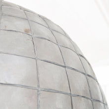 detail of mother of pearl grey shell lamp HK Living USA