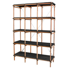 open shelving unit