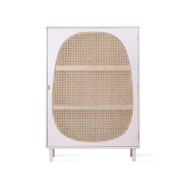 cream white webbing cabinet