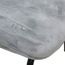detail of the cool velvet grey chair