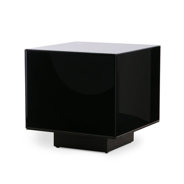 black mirror square side table