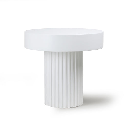 Pillar coffee table - white