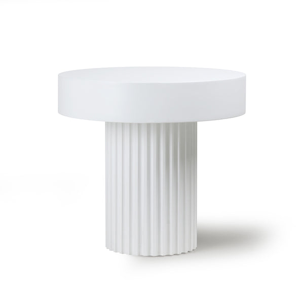 Pillar accent table - white