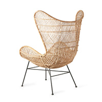 backside of the natural rattan egg chair