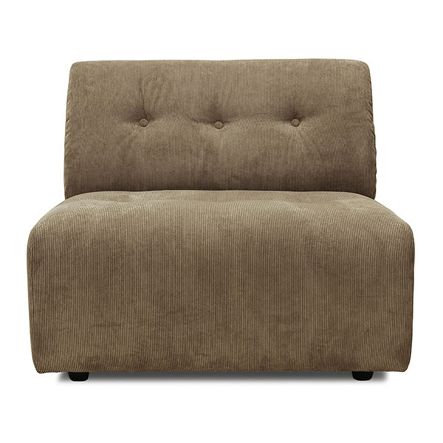 element couch in corduroy brown rib element b