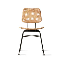 Rattan desk chair - natural