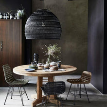 VOL5014 natural wicker hanging lamp black hk living usa in dining room