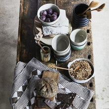 table setting with natural products