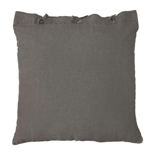 linen throw pillow in taupe color