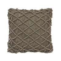 Macrame throw pillow - green