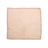 natural salmon linen napkin