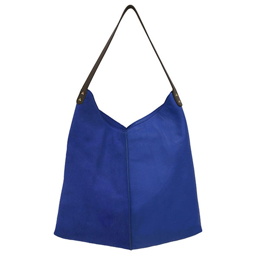 blue bag by hk living 100% leather