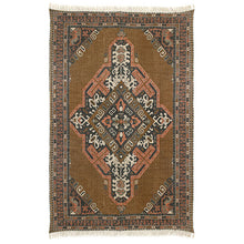 5-10 by 9-2 cotton and jute stonewashed HK living TTK3026 brown area rug