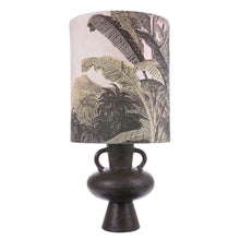 hkliving VOL5031+VLK2012 jungle print lampshade with charcoal stoneware base