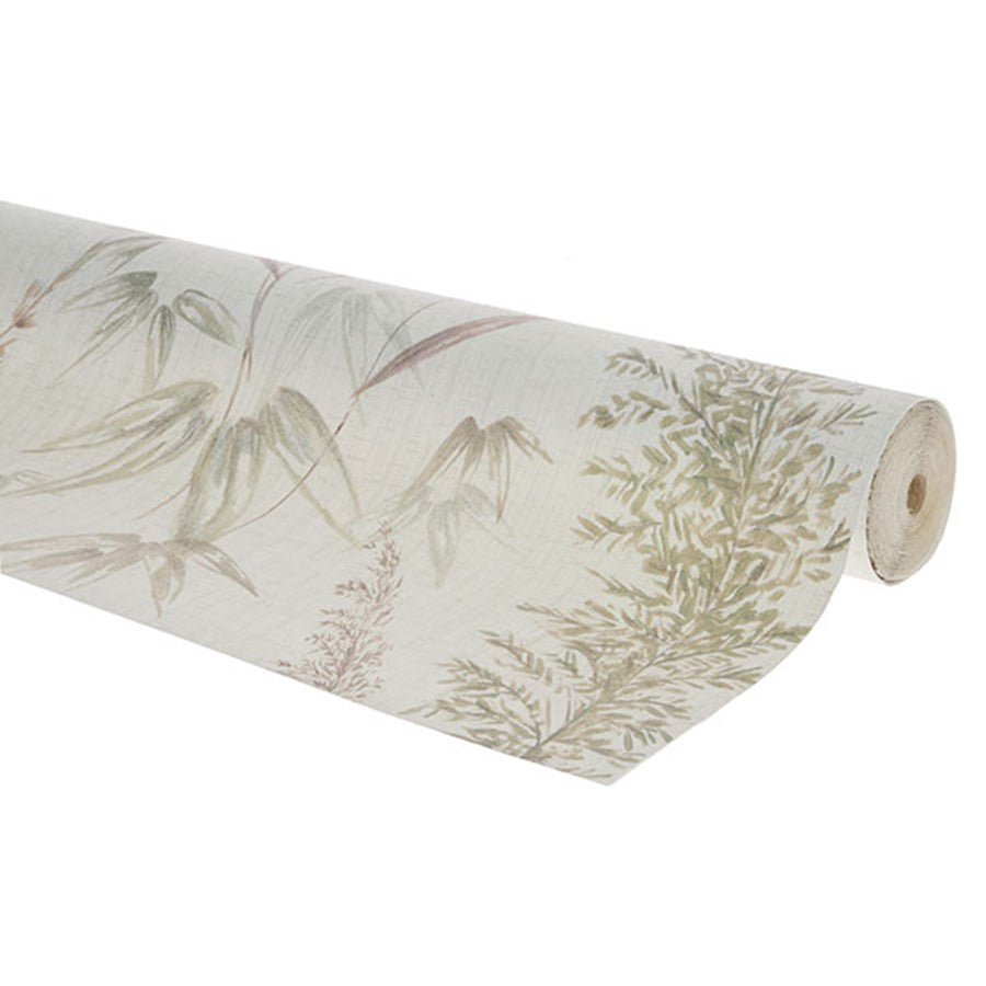 roll vinyl wall paper with a vintage reed design