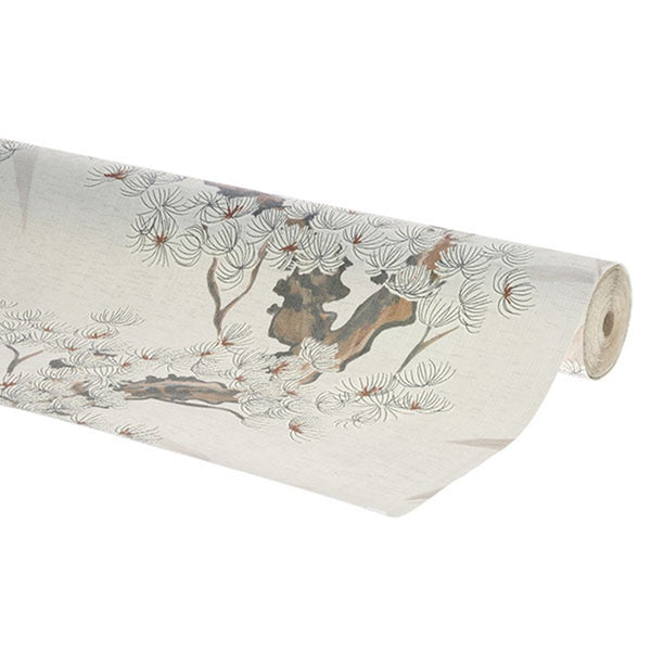 roll vinyl wall paper with retro cherry tree design