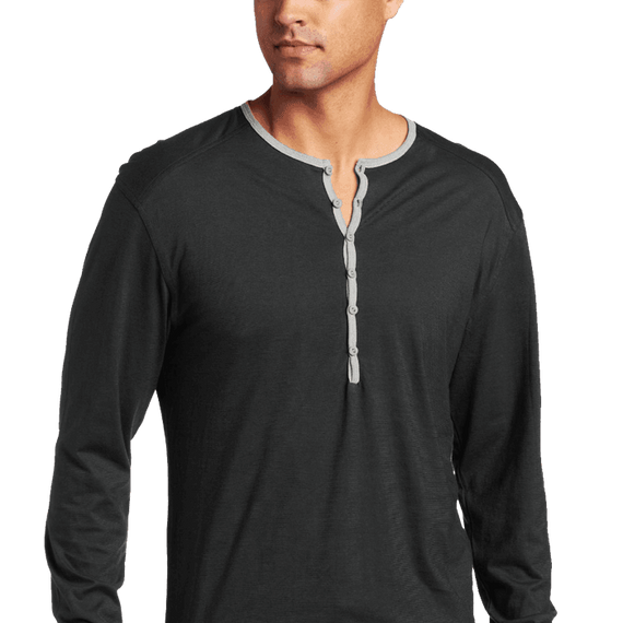 C In2 Mens Pop Color Long Sleeve Henley
