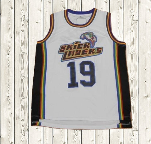 6db652444528  19 Aaliyah Bricklayers Basketball Jersey White ...