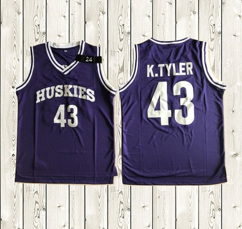 769e7d4e0cb6  43 K.TYLER Huskies movie jersey purple ...
