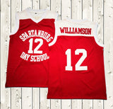 Zion Williamson Spartanburg Day School 12 Basketball Jersey Red
