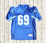 Billy Bob #69 Football Jersey Stitched Blue - Varsity Blues
