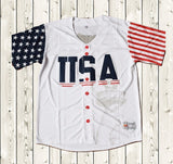 Donald Trump #45 USA Baseball Jersey Stitched White