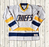 Denis Lemieux #1 Slap Shot Charlestown Ice Hockey Jersey Stitched White