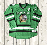 Jonathan Toews #9 SIOUX Ice Hockey Jersey Stitched Green