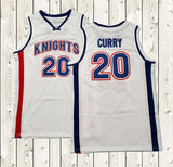 Stephen Curry 20 Charlotte Christian Knights Basketball Jersey White