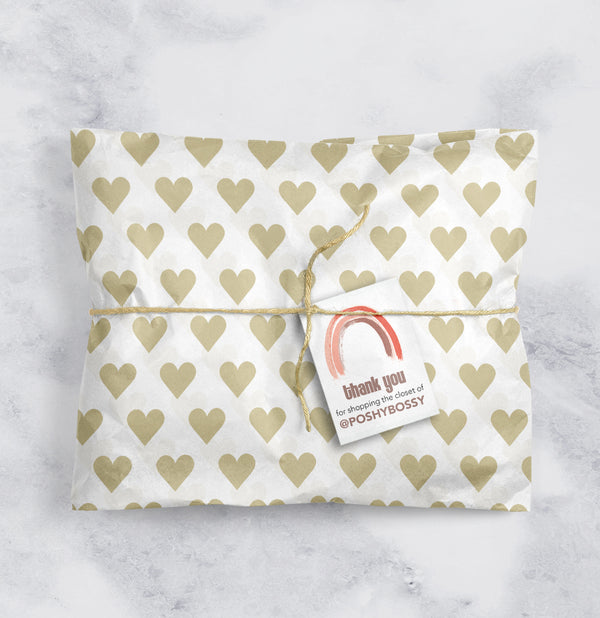Tissue Paper Gold Hearts