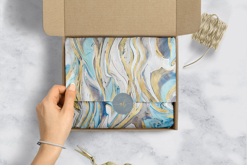 Blue Marble Tissue Paper