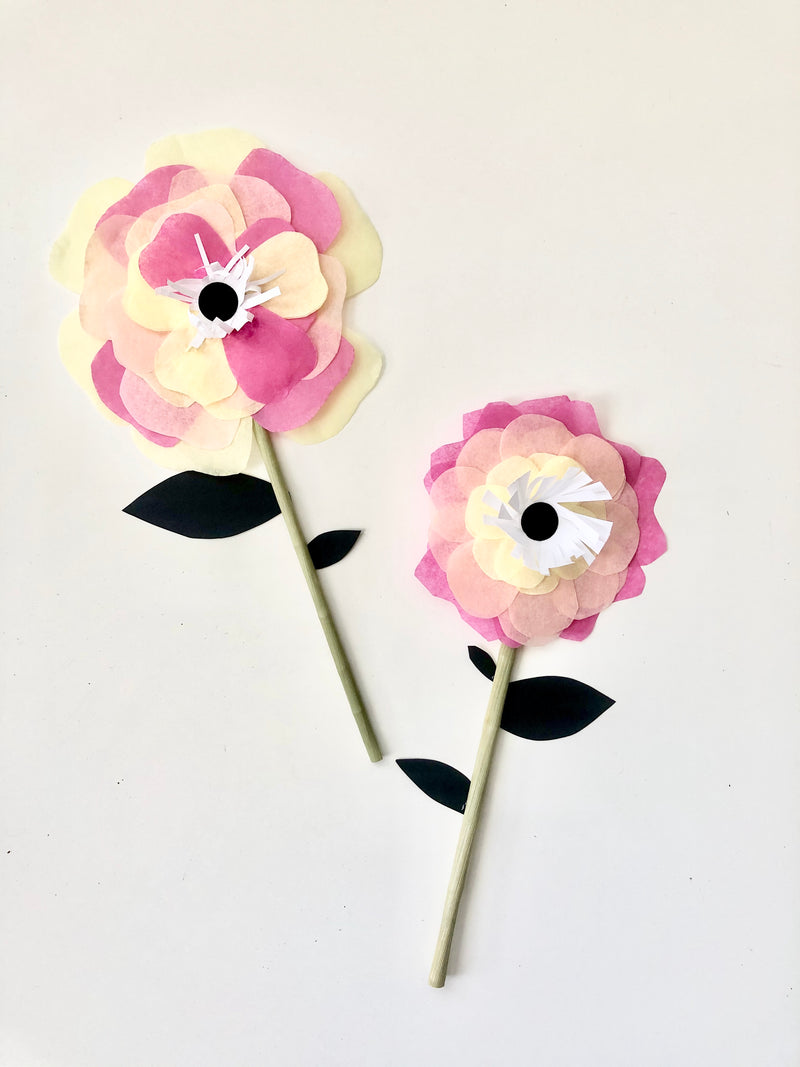 Curbside Creative Kit - Tissue Paper HAPPY Flower