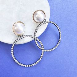 Sparkle & Pearl Earrings