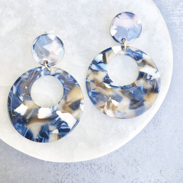 Top Selling Blue Acrylic Earrings