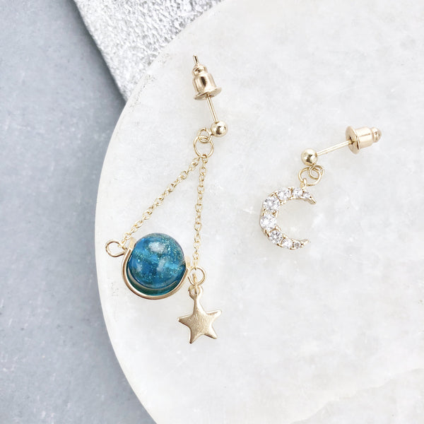 Moon & Star Earrings