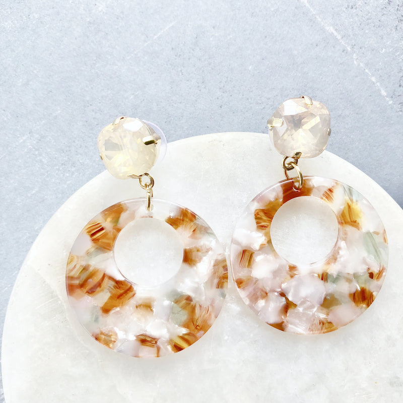 Top Selling Coral-Colored Acrylic Earrings