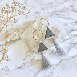 Triangle Tassel Earrings