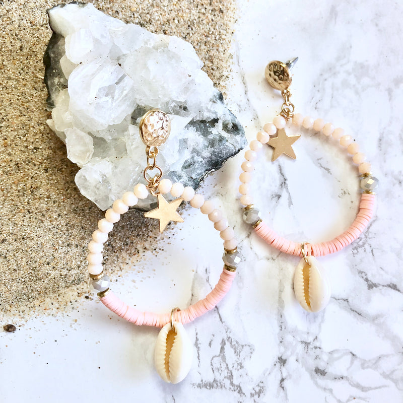 Sparkly Shell Earrings